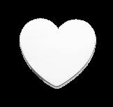 Corazón blanco en fondo gris