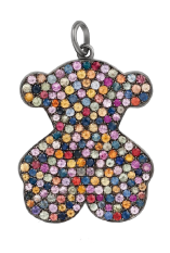 Colgante de oso de Tous con piedras multicolor
