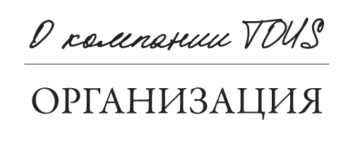 Acerca de Tous: organización