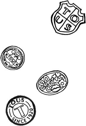 Bocetos de logos de Tous